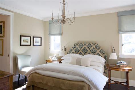 damask headboard transitional bedroom tim clarke design