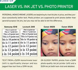 color laser vs inkjet inkjet vs laser color photo