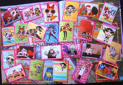 Sticker Stiker Label Nama The Powerpuff Power Puff the powerpuff panini empty album 204 sticker ebay
