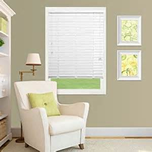 outside mount blinds 2 quot express faux wood blinds 46 x 64 white