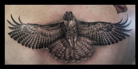 black and grey hawk tattoo grey ink hawk tattoos design