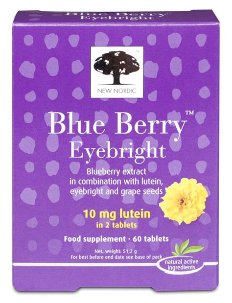 New Nordic Blueberry Eye Bright 60tabs new nordic blue berry eyebright healthy 60