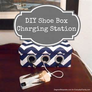 phone charging box diy project shoe box phone and ipad charging station