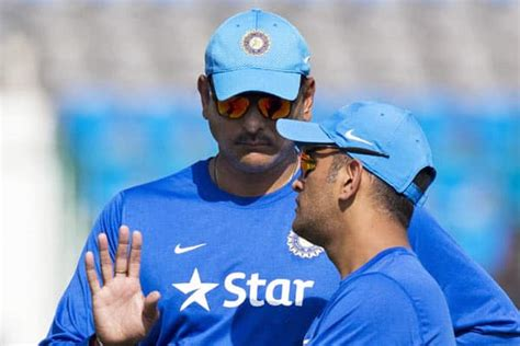 puppy not enough ms dhoni not enough half finished yet ravi shastri