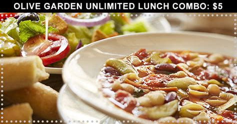 olive garden 7 lunch olive garden unlimited lunch combo 5