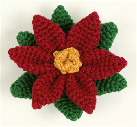 pattern crochet poinsettia crochet poinsettia christmas ornament pattern free
