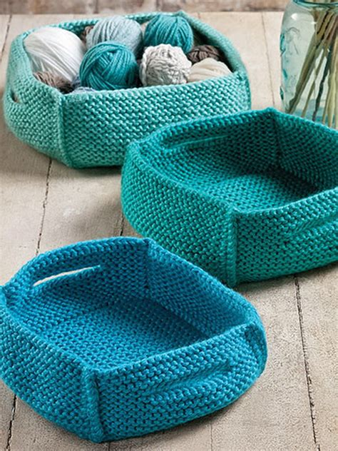 knitted basket pattern creative knitting and crochet projects you would 2017