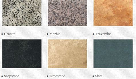 types of granite countertops five star stone inc