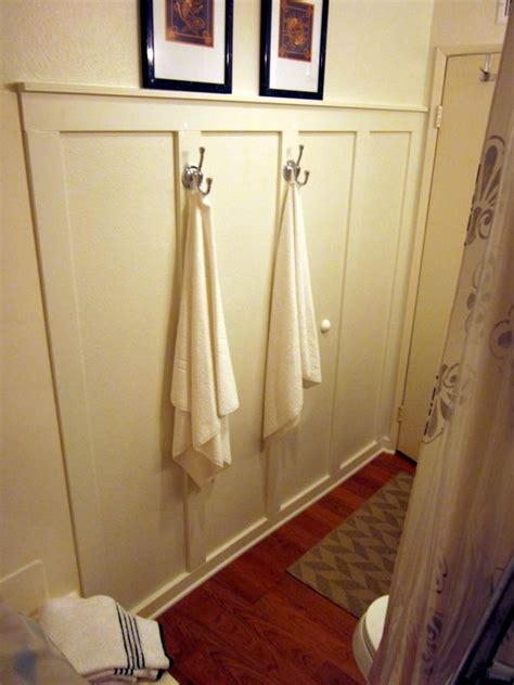 wainscot bathroom diy house ideas pinterest diy faux wainscoting in the bathroom bathroom pinterest