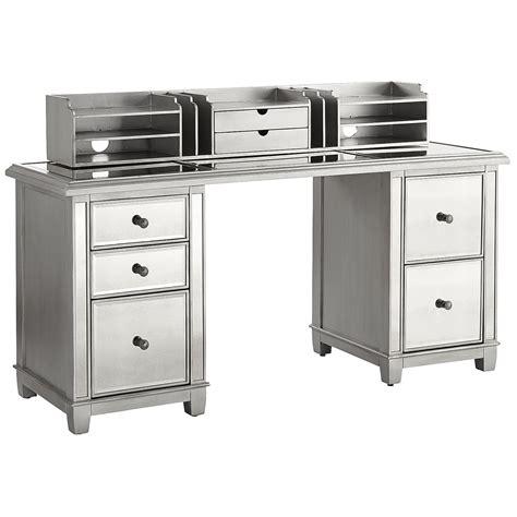 mirrored desk hayworth mirrored desk with hutch pier 1 imports
