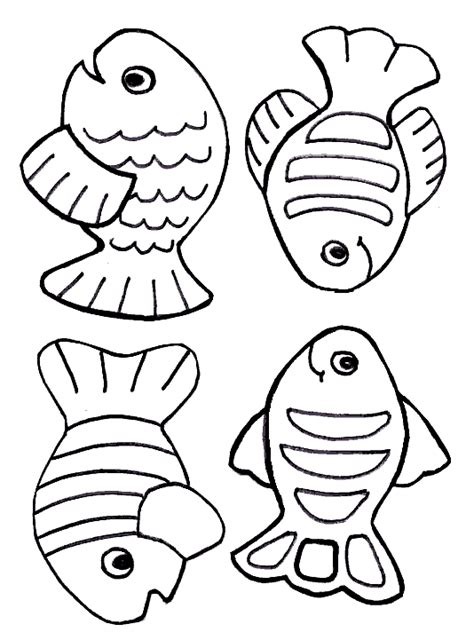 coloring page of small fish moldes em eva de peixes clipart best