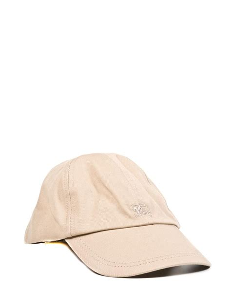 burberry baseball cap in beige for lyst