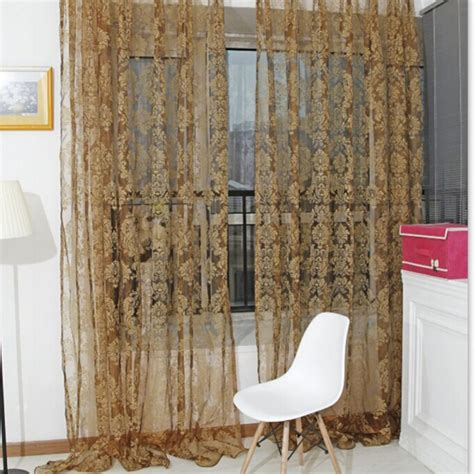 factory bargain drapes curtain factory price unique bronzing voile door window