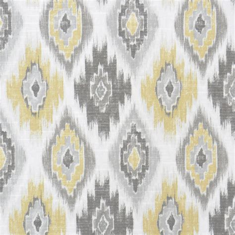 grey and yellow curtain fabric grey yellow ikat upholstery fabric yellow ikat cotton