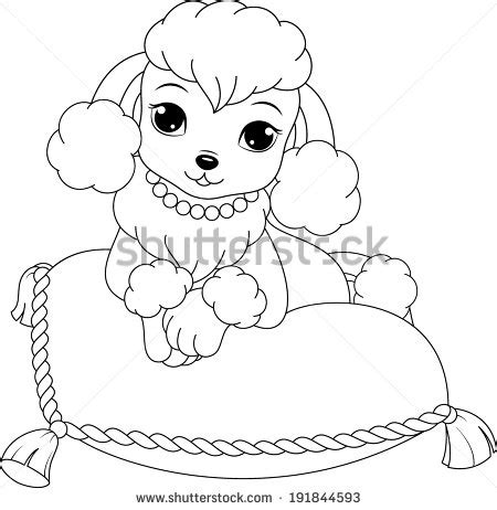 pin poodle coloring page pages on pinterest