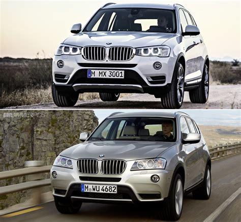 size difference between bmw x3 and x5 visual comparison between x3 lci facelift and pre facelift x3