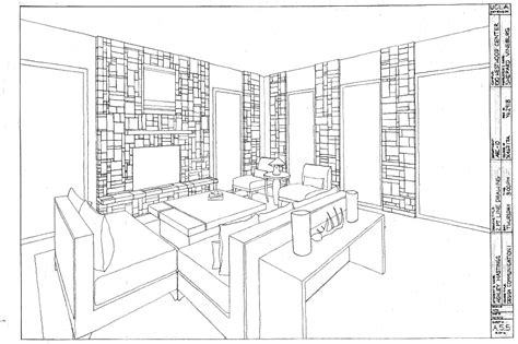 Drawing 2 Point Perspective From Plan by Two Point Perspective Drawing Room Search