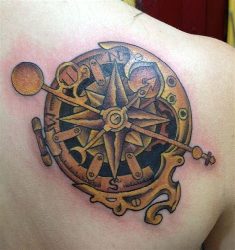 compass tattoo back shoulder compass tattoos and designs page 47