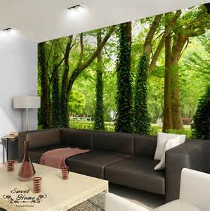 home decoration accessories wall 3d nature tree landscape wall paper wall print decal decor