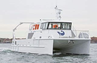 catamaran workboat derecktor to build second hybrid science catamaran workboat