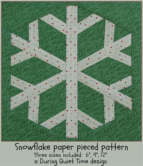 snowflake pattern to sew snowflake paper pieced pattern during quiet time