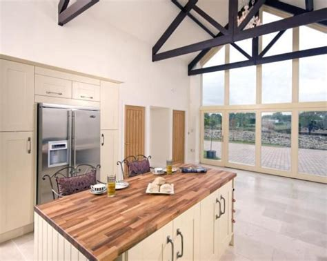 Photo Of Barn Conversion Contemporary Open Plan Kitchen