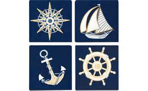 nautical design nautical and navy appliqu 233 coasters set of four rightside design rightside design