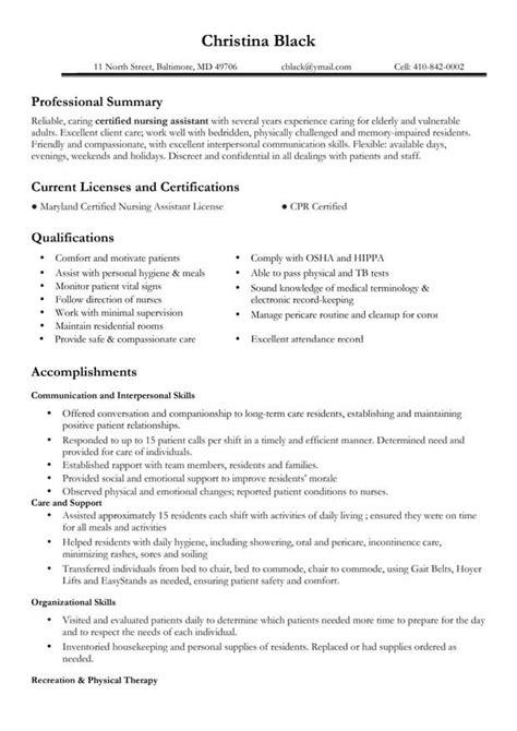 certifications on resume sle certifications a