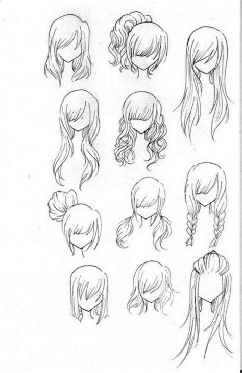 How To Draw Hairstyles by How To Draw Realistic Hairstyles Www Imgkid The