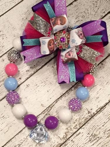 Chunky Bead Frozen Purple Combination With Pink baby chunky beaded necklaces