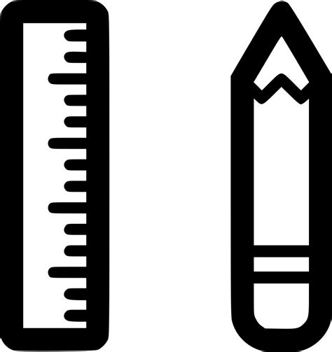 icon design pencil rule streamline pencil ruler school drawing svg png icon free download
