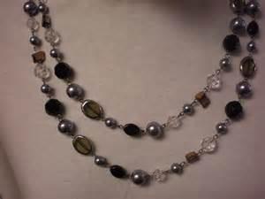 premier designs black glass bead necklace mix by