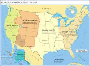 us time zone map united states
