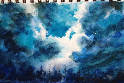 acrylic painting sky tutorial sky watercolor painting tutorial