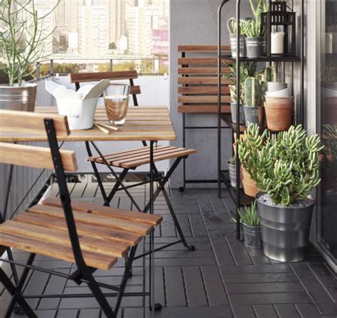 ideas para decorar terrazas ikea decoracion balcones cheap barbacoa para balcones o