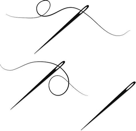 sewing borders design elements vector royalty free needle and thread clip art vector images