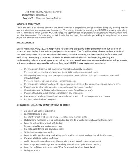 Call Center Manager Description by Call Center Description 11 Free Word Pdf Documents Free Premium Templates