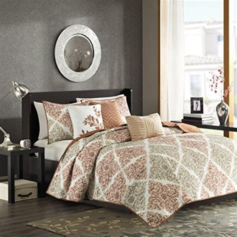 coverlet set madison park claire 6 piece quilted coverlet set king