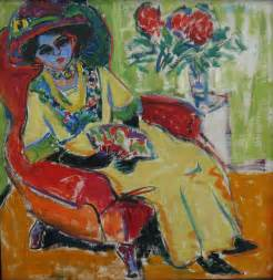 L Painting by Seated Dodo Ernst Ludwig Kirchner Wikiart Org
