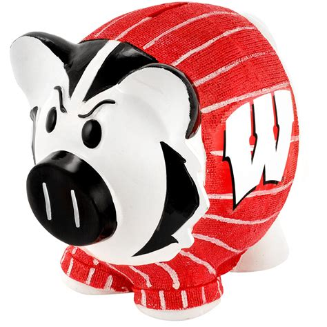 of wisconsin fan shop forever collectibles ncaa large piggy bank of