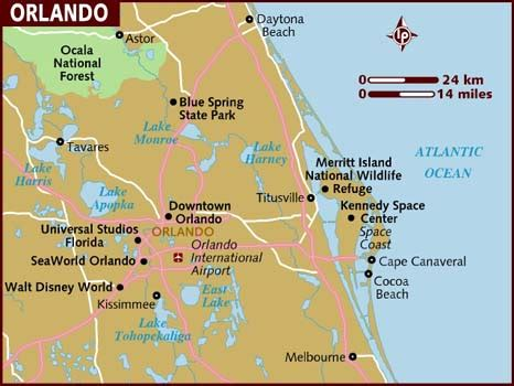 where is orlando in usa map map of orlando