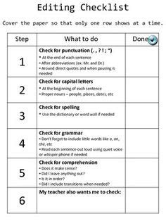 business letter peer editing checklist cops editing checklist punctuation organizations and