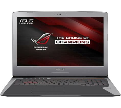 17 3 Asus Republic Of Gamers I7 Gaming Laptop asus republic of gamers g752vt t7022t 17 3 quot gaming laptop silver deals pc world