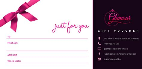 voucher template 40 gift voucher nail bar