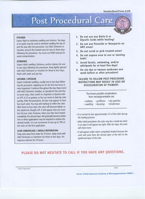 tattoo aftercare instructions pdf permanent makeup consent form decorativestyle org