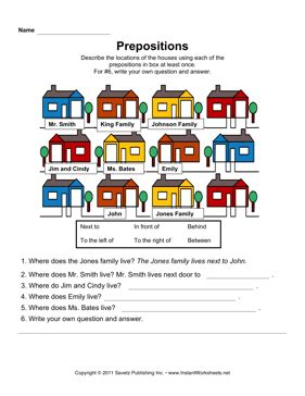 esl printable worksheets prepositions of place esl prepositions of place worksheets