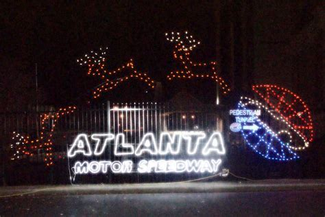 nanny to mommy gift of lights at atlanta motor speedway