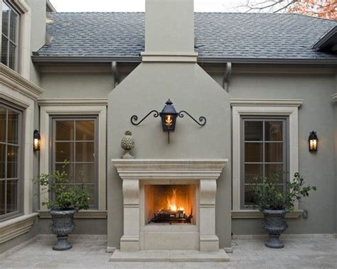 cast fireplace surround in outdoor patios design