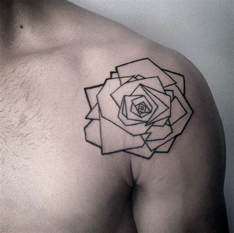 minimalist geometric tattoo designs 40 geometric rose tattoo designs for men flower ink ideas