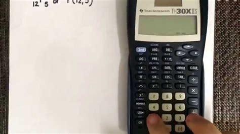calculator ncr permutation using the calculator ti 30x iis youtube